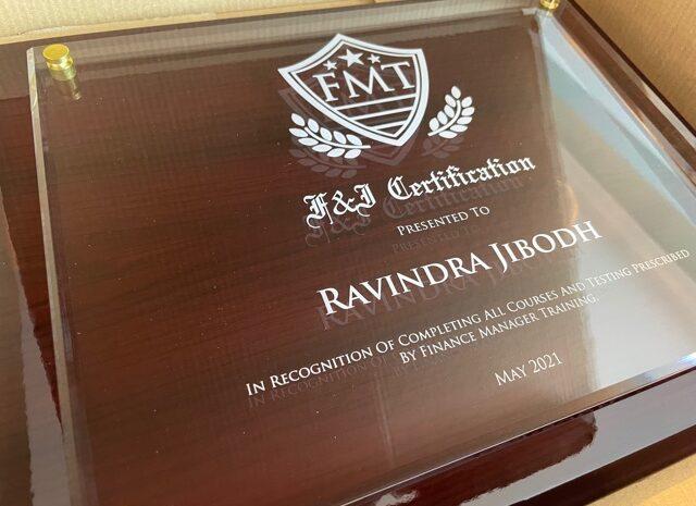 F&I dealership diploma